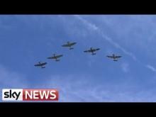 Embedded thumbnail for Přelet letadel u příležitosti 75 let od Bitvy o Británii